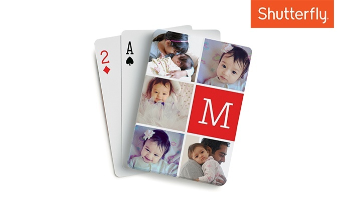 Shutterfly: One Set of Personalized Playing Cards from Shutterfly (75% Off)