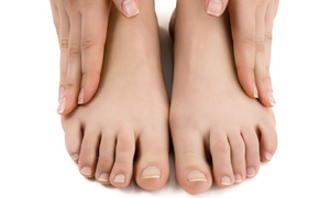 Synesi: Three Laser Nail-Fungus Treatments for One or Both Feet at Synesi (Up to 88% Off)