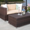 Westlake Outdoor Brown PE Wicker Loveseat and Ottoman Set