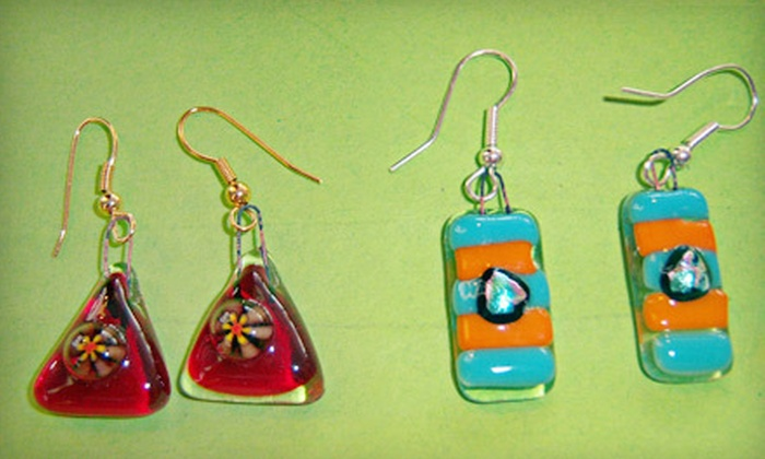 Smashing Times - Dallas: Fused-Glass Earring or Ornament Class for One or Two or a Party for Up to 14 Guests at Smashing Times (Up to 53% Off)