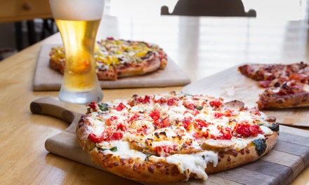 Menu pizza con dolce e birra