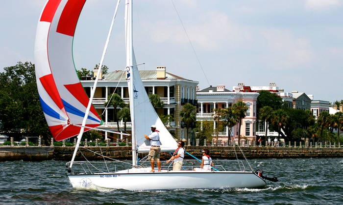 Ocean Sailing Academy - Mount Pleasant - South Carolina: Introductory Sailing Lesson for One or Two at Ocean Sailing Academy (Up to 55% Off)