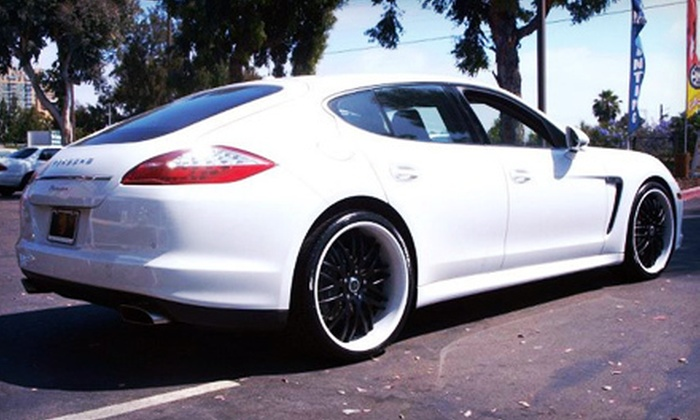 Platinum Auto Sports - Multiple Locations: $115 for Tinting for up to Five Auto Windows from Platinum Auto Sports (up to a $229 Value)
