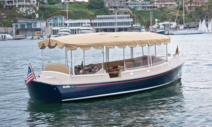 S.J. Koch Duffy Electric Boats - Multiple Locations: $175 for a Captain-Guided Party-Boat Rental or Romantic Getaway from S.J. Koch Duffy Electric Boats, LLC ($380 Value)