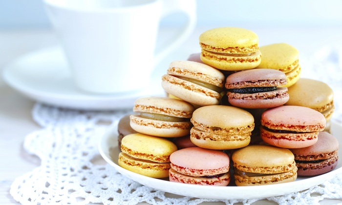 Leonidas Chocolate Cafe - Downtown Vancouver: Six Macarons with Drinks for Two or Waffles with Lattes for Two at Leonidas Chocolate Cafe (Up to 45% Off)