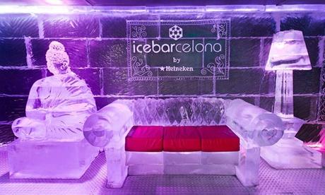 Icebarcelona: entrada y copa en el bar de hielo por 9 € junto a la Vila Olímpica