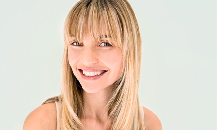 Hair Visions - Spring: Haircut Package with Option for Partial or Full Highlights at Hair Visions (Up to 52% Off)