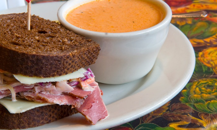 AJ's Organic Cafe - Downtown: C$12.25 for a Half-Sandwich Combo Meal for Two with Soup or Salad at AJ's Organic Cafe ($21 Value)