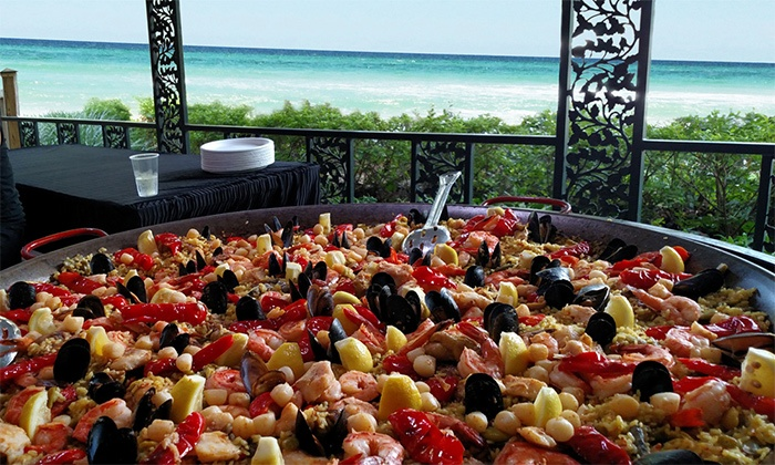 Real Paella - Gulf Place Amphitheater: Two or Four Tickets to Paella Party at Real Paella (50% Off)