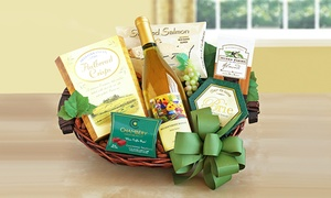 Cheers! Wine and Gourmet Food Gift Basket (Shipping Included)