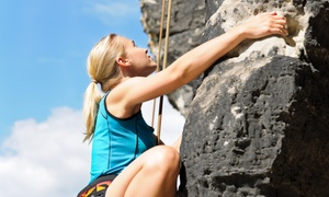 Valley To Summit: Intro to Outdoor Rock Climbing or Rappelling Adventure for One from Valley to Summit (Up to 51% Off)