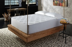 Hotel 400-thread-count Overfilled Quilted Mattress Pad