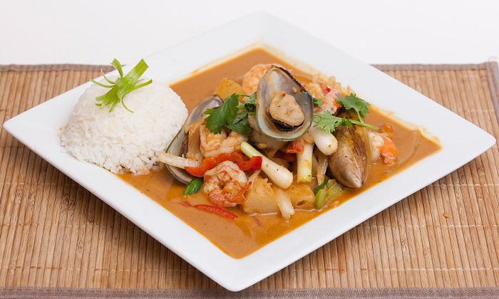 Banana Island Restaurant - Corridor South: Malaysian and Thai Dinner for Two or Four or Thai Food for Carryout at Banana Island Restaurant (Up to 43% Off)