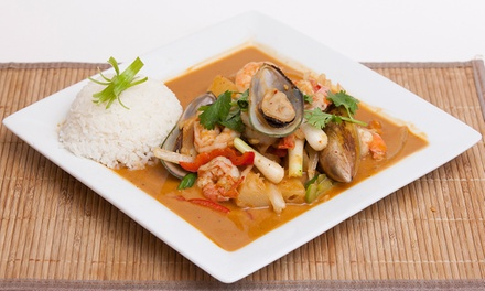 Malaysian and Thai Dinner for Two or Four or Thai Food for Carryout at Banana Island Restaurant (Up to 47% Off)