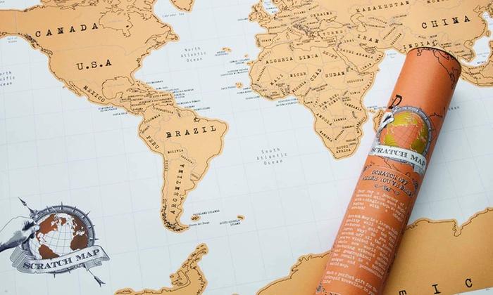 1 2 ou 3 cartes du monde à gratter 52 x 88 cm dès 890€ (jusquà 80% de rduction)