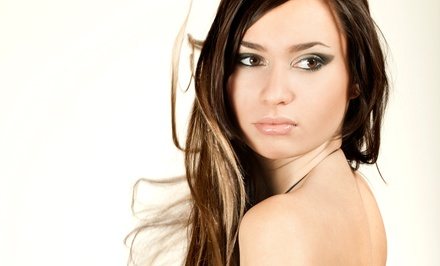 Haircut with Partial or Full Highlights or Gloss Conditioning Treatment at Salon 221 (Up to 52% Off)