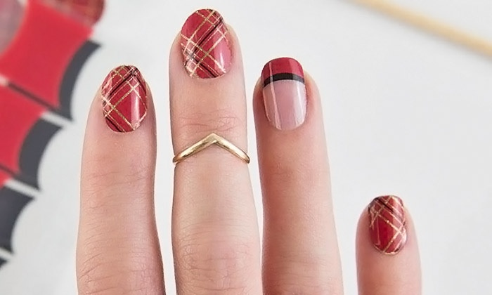 The Nail Wrap Bar - Edgewood: One Nail Wrap Manicure with Optional Pedicure or Three Nail Wrap Manicures at The Nail Wrap Bar (Up to 58% Off)