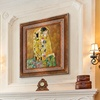 Klimt's The Kiss (Full View) Framed Hand Painted Oil Reproduction