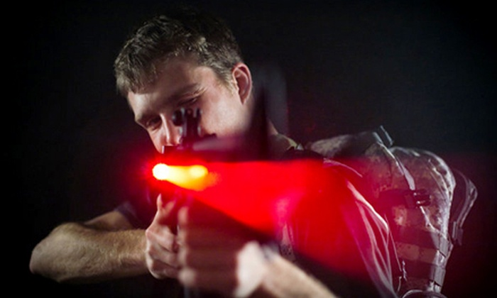 Nelson Field Laser Tag - Oak Grove: 30- or 90-Minute Outdoor Laser-Tag Outing for Two or Four at Nelson Field Laser Tag (Up to 55% Off)