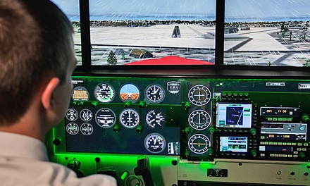 One or Three Flight Simulator Sessions with a Logbook at Solo Aviation (Up to 50% Off)