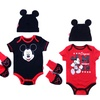 Character-Based Infant Cap, Bodysuit, and Booties