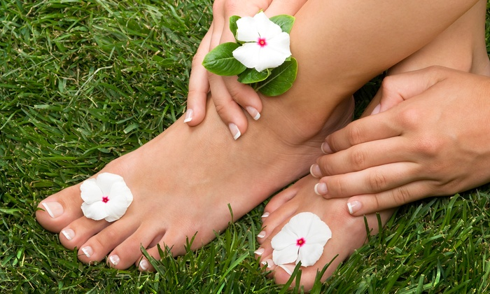 Beauty and Beyond Personal Enhancement Center - West Arlington: One or Two Spa Mani-Pedis at Beauty and Beyond Personal Enhancement Center (Up to 65% Off)