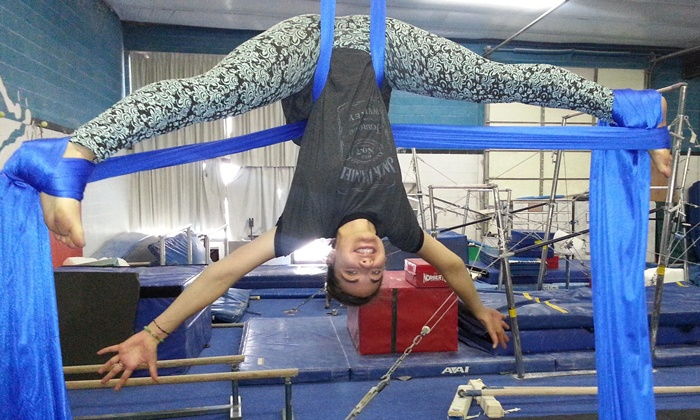 Hunt's Gymnastics Academy - Midvale: One Month of Aerial Silks Classes at Hunt's Gymnastics Academy (55% Off)