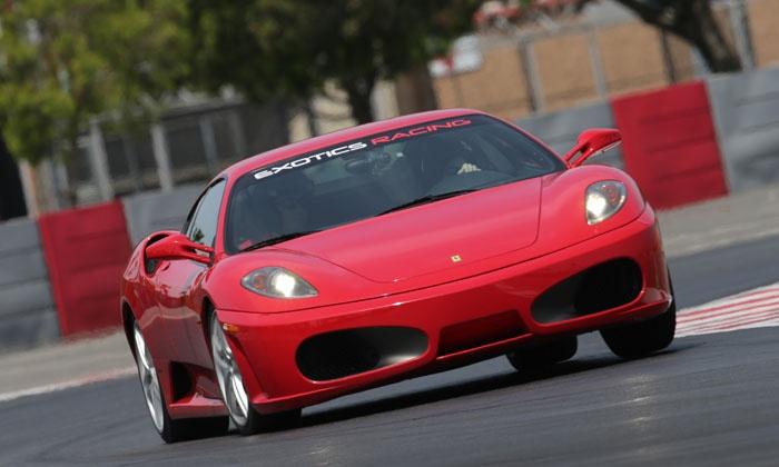 Exotics Racing - Auto Club Speedway: Seven Laps in a Porsche, Ferrari, or Lamborghini Gallardo from Exotics Racing (Up to 31% Off)