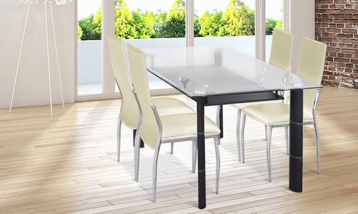 Set di 4 sedie da soggiorno groupon