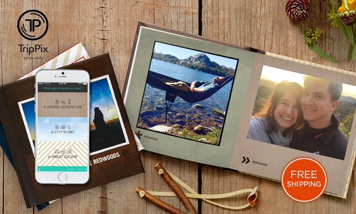 TripPix by Shutterfly: $9.99 for a 6x6 Hard Cover Photo Book from TripPix by Shutterfly. (iPhone App Only)