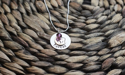 $19 for a Personalized Hand-Stamped Baby Feet Necklace from Love Stamped ($40 Value)