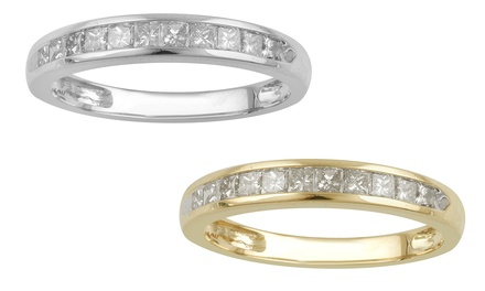 Diamond Channel-Set Band | Groupon Goods