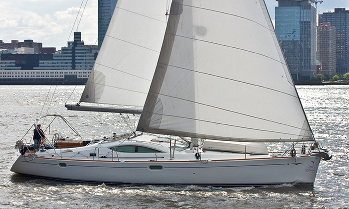 SailAwayNY - New York: Sunset Cruise with Champagne for One or Two or Private Charter for Up to Six from SailawayNY (Up to 26% Off)