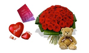 Flowerkart.AE: Red Roses With Free Delivery and a Card from AED 99 at Flowerkart.AE (Up to 56% Off)