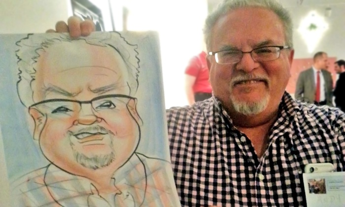 Caricature by Haram - St Louis: Two or Four Hours of Live Caricature Entertainment from Caricature by Haram (40% Off)