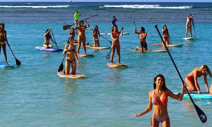 Blue Planet - Ala Moana - Kakaako: Two or Four 24-Hour Stand Up Paddle Board Rentals (Valid Sunday - Friday) at Blue Planet Surf (Up to 50% Off)