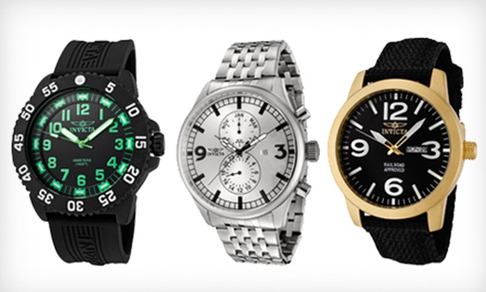 Men's Invicta Watch: Men's Invicta Watch (Up to 92% Off). Nine Styles Available.