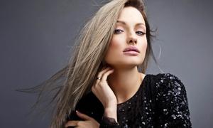 Upstairs Hair Affair: An Organic Salon: Haircut with Optional Partial or Full Highlights at Upstairs Hair Affair: An Organic Salon (Up to 56% Off)