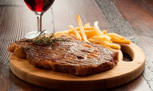Top Pub: Two-Course Steak Dinner with Wine or Beer for Two or Four at Top Pub