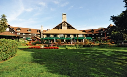 groupon daily deal - 1 or 2 Nights for Two at Fairmont Le Château Montebello in Montebello, QC. Check in Sun.–Thu. Combine Up to 4 Nights.