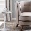 Albany Fabric-Upholstered Button-Tufted Accent Chair