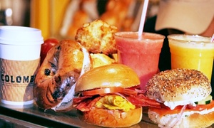 Jaffa Bagels: Bagel Sandwiches, Mediterranean Plates, or Catering at Jaffa Bagels (Up to 31% Off)