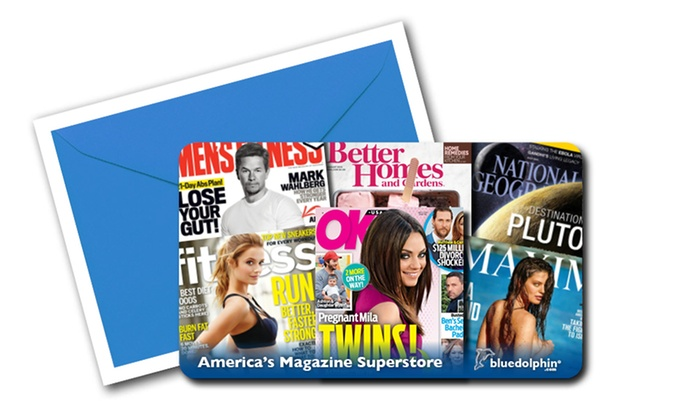 Blue Dolphin Magazines: $10 or $25 Worth of Magazine Subscriptions from Blue Dolphin Magazines (Up to 52% Off)