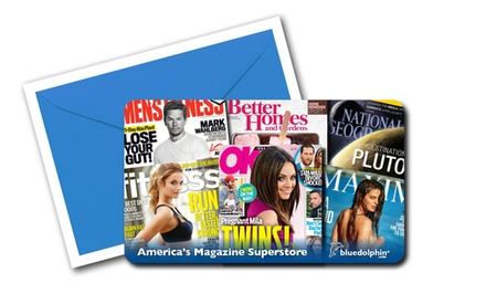 $5 for $10 or $12 for $25 Worth of Magazine Subscriptions from Blue Dolphin Magazines