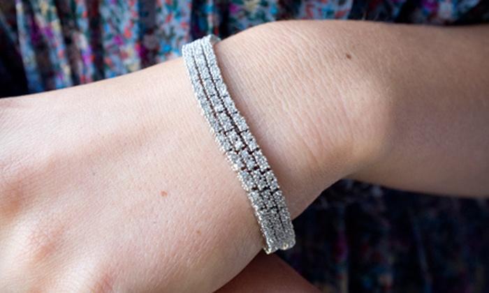 129 For A Horizontal Diamond Tennis Bracelet