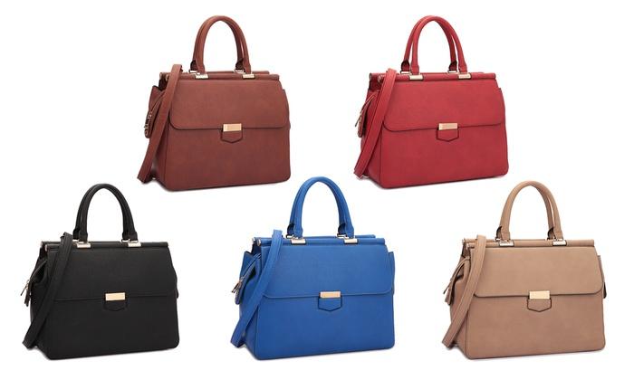 Calf-Leather Satchel Handbags