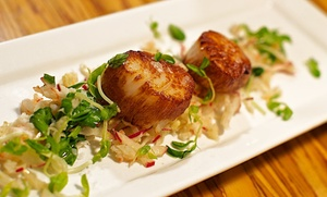 The Wine Bar: CC$89 for Dinner for Two with Appetizers, Entrees, Dessert, and Wine at Wine Bar (Up to CC$153 Value)