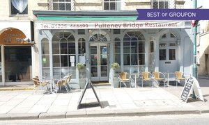 Pulteney Bridge Restaurant: Two-Course Meal with a Glass of Prosecco for Two or Four at Pulteney Bridge Restaurant (51% Off), Bath