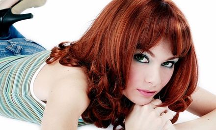 Haircut and Conditioning Treatment with Color or Partial or Full Highlights at Bang Salon (Up to 59%  Off)