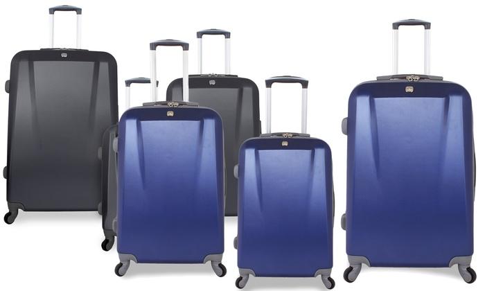 c3117c39c SwissGear 3-Piece Hardsided Spinner Luggage Set